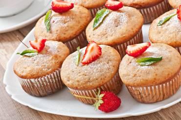 Muffin de Morango Saudável