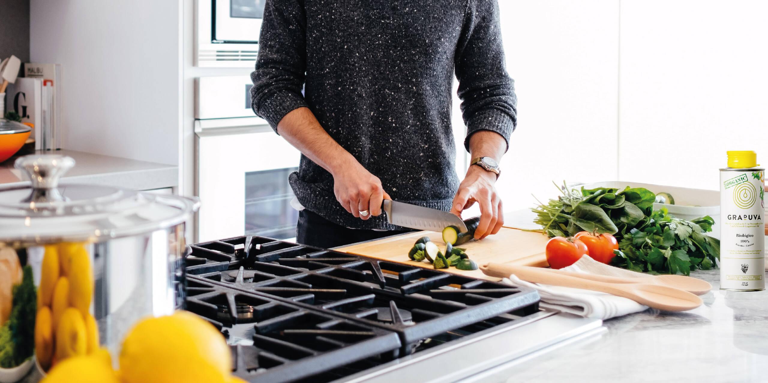 Uma alimentação mais saudável começa também na preparação